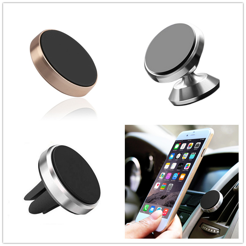 Car Magnetic Phone Holder Universal Auto Air Outlet Clip Mount Magnet Mobile Phone Holder 360 Degree Stand Interior Accessories