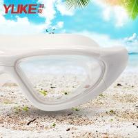 Óculos de proteção grande caixa de alta definição transparente impermeável anti nevoeiro natação adulto feminino miopia natação óculos Óculos de segurança     -
