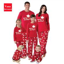 Family Christmas Pajamas Set 2pcs Long Sleeve Santa Claus Top + Pants Sleepwear Set Christmas Pajamas Family Matching Clothes(China)