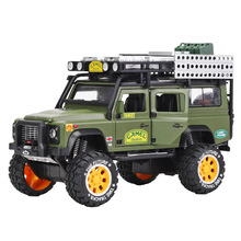 цена на 1:28 Diecast Metal Toy Car Alloy Land Rovers Suv Metal Car Simulation Car Sound and Light Pull Back Car Toy for Children Gift