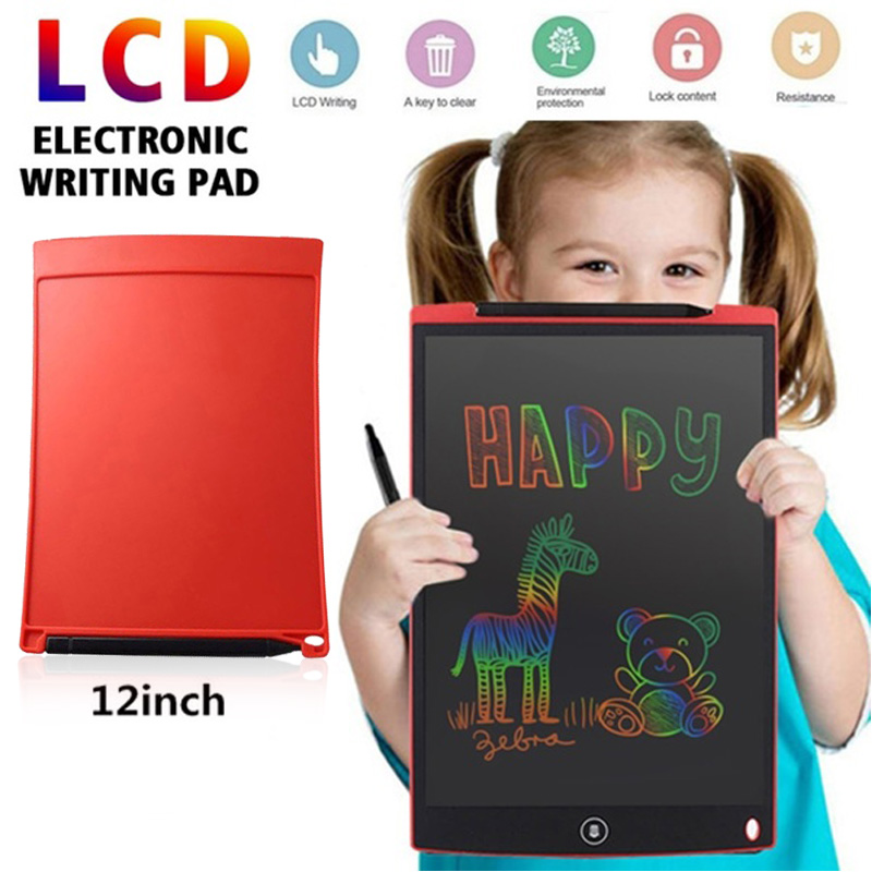 New Design 12 Inch Portable Writing Pad  Gift Puzzle Memo LCD  Drawing Board  Graffiti Doodle Writing Board Good Gift For Kids