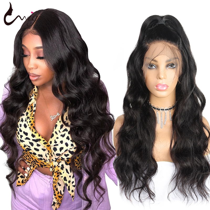 Uwigs 13X6 Lace Front Human Hair Wigs Brazilian Body Wave Wig Pre Plucked For Black Women Transparent Remy Hair Wigs 8-26 Inch