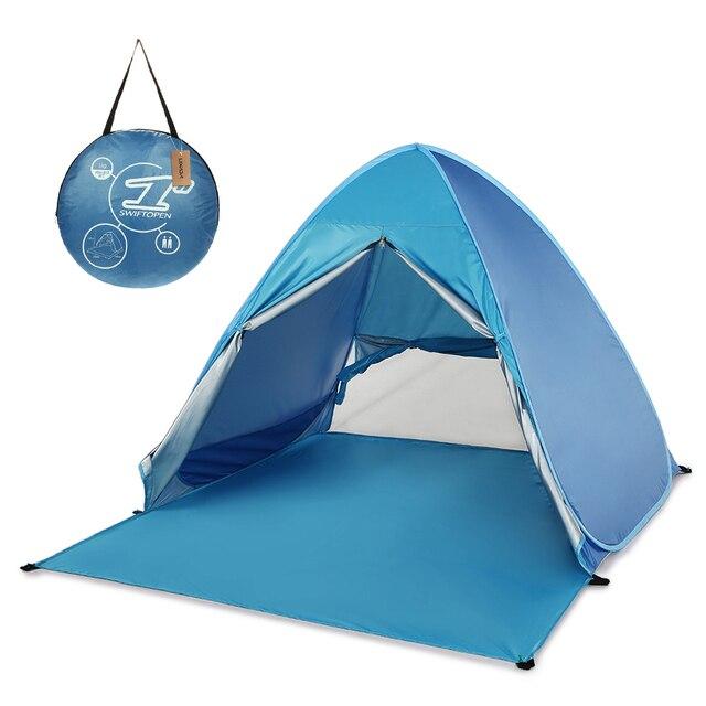 KEUMER 1 2 kişi açık plaj çadırı Pop up açık kamp balıkçı çadırı taşınabilir su geçirmez UV koruyucu çadır barınak