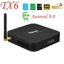 Smart TIVI Box Android 9.0 Tanix TX6 Allwinner H6 4GB 32GB 64GB Hỗ Trợ 2.4G/5GHz Wifi BT4.1 4K H.265 Bluetooth 4.0 Set Top Box