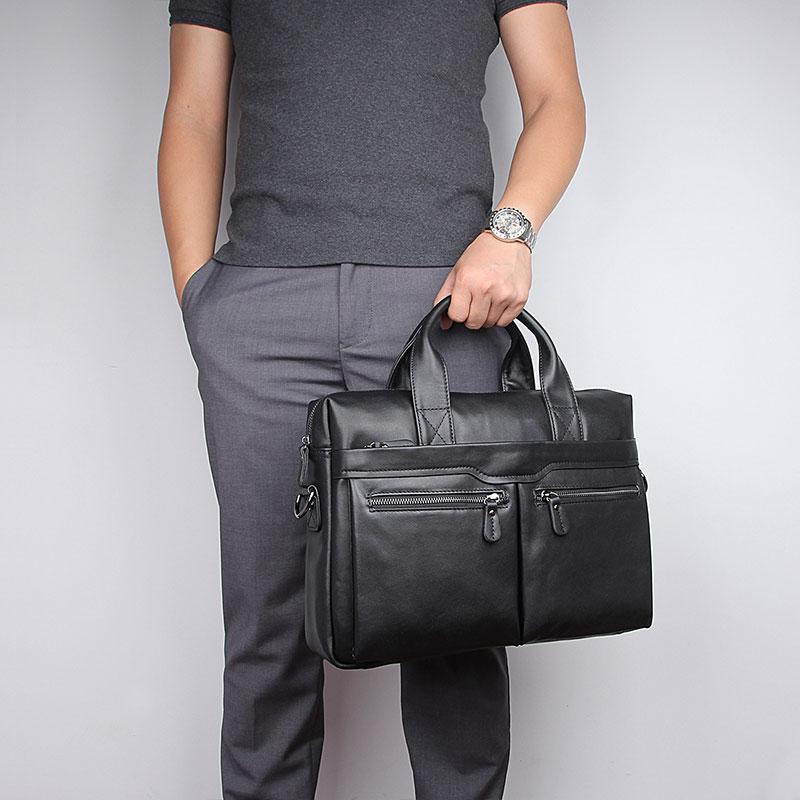 JMD винтажный кожаный мужской черный портфель сумка для ноутбука сумка мессенджер горячая Распродажа 7122A 1 - 4