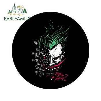 EARLFAMILY 13cm x 12.8cm for Joker Motorcycle Car Stickers Vinyl Car Sticker Bumper Decoration Car Accessories 3D Decal car stickers light bulb skull head motorcycle accessories bumper rear windshield sunscreen waterproof decal vinyl 13cm 8cm