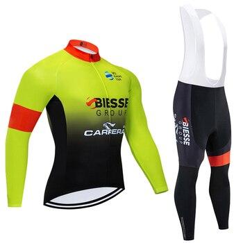 BIESSE-Conjunto de Ropa de Ciclismo para hombre, JERSEY de manga larga y...