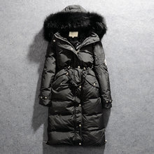 2019 New Parkas Female Women Winter Coat Thickening Cotton Winter Jacket Womens black faux fur Outwear Parkas for Women Winter(China)