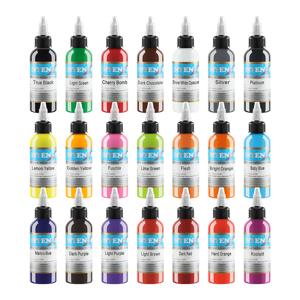 2019 New Permanent 14 Color Tattoo Ink 1oz / Bottle Tattoo Ink Set
