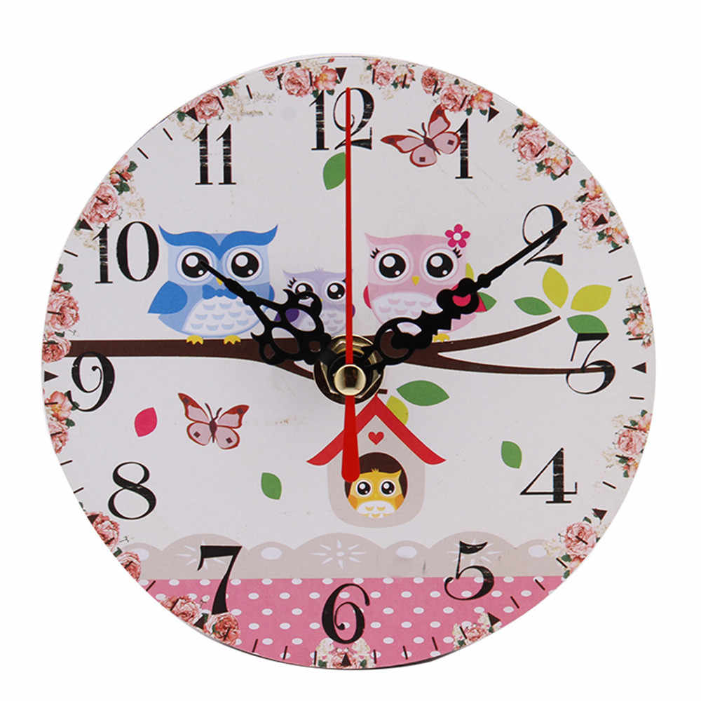 Vintage Style Antique Wood Wall Clock for Home Kitchen Office Vintage Rustic Country Style For Kitchen Office Home Silent Hot