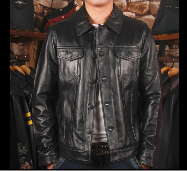Free Shipping, New Style Cowhide Plus Size Jacket.vintage Handsome Man Genuine Leather Jackets.quality Coat.sales.110