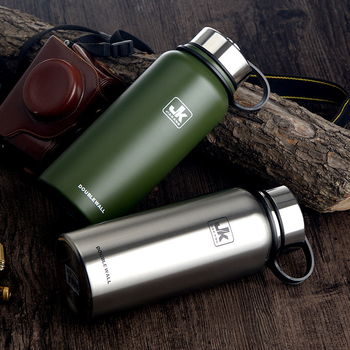 800/1100/1500ML Stainless Steel Insulated Vacuum Flask Thermos Bottle Outdoor Travel Pot Thermal Vacuum Flasks Thermoses Cups 304 stainless steel thermos 1000ml 2000ml termos coffee vacuum flasks thermoses travel thermos bottle stainless steel thermo pot