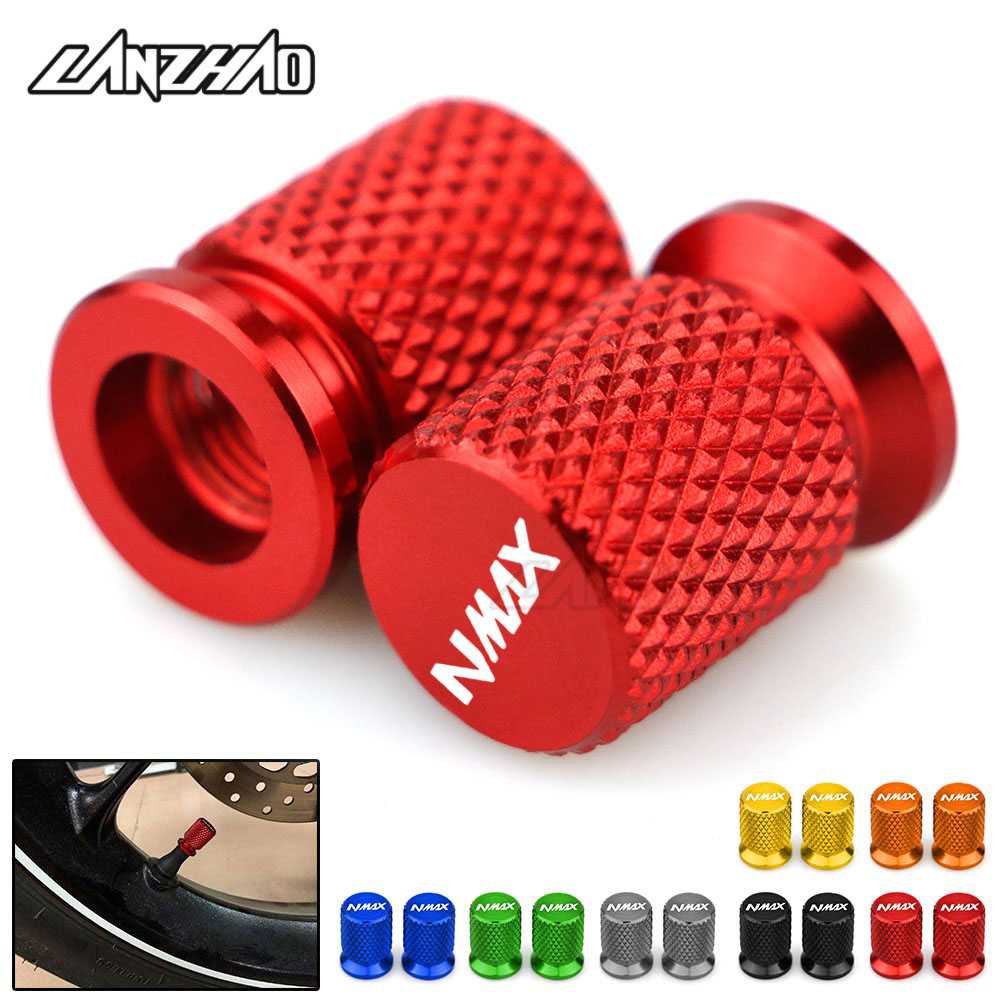 CNC Aluminum Tyre Valve Air Port Cover Cap Motorcycle Accessories for <font><b>Yamaha</b></font> <font><b>Nmax</b></font> N-max 125 <font><b>155</b></font> 2017 2018 2019 Red Blue Gold image