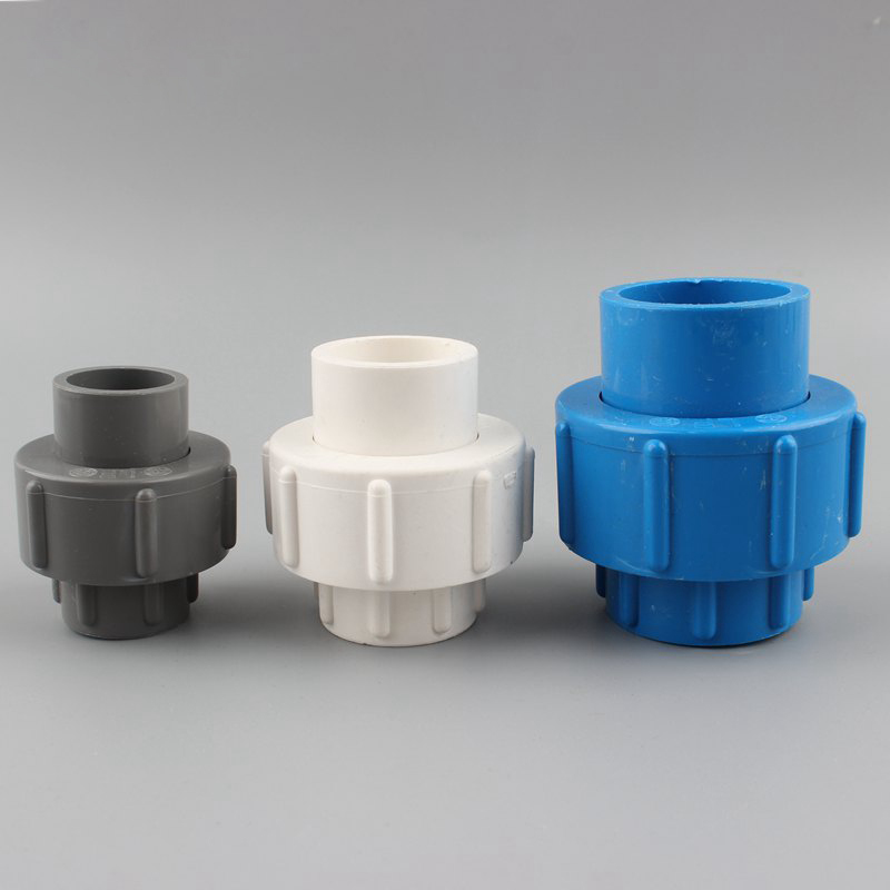 20 25 32 40 50Mm Union Connector PVC Plastic Water Supply Pipe Fittings Garden Irrigation Joint Fish Tank Accessories image