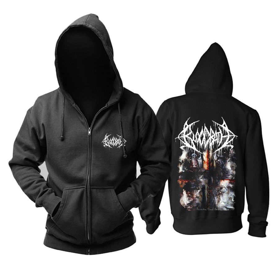 3 Designs Bloodbath Zipper Sweatshirt Rock Shell Jacket Black Hoodies Punk Heavy Metal Sudadera Demon Death Fleece