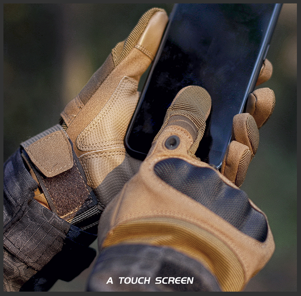 PromoteÌknuckle Tactical Men gloves Military Army Airsoft hard hunting full finger gloves Outdoor winter Touch Screen Shooting Bicycle
