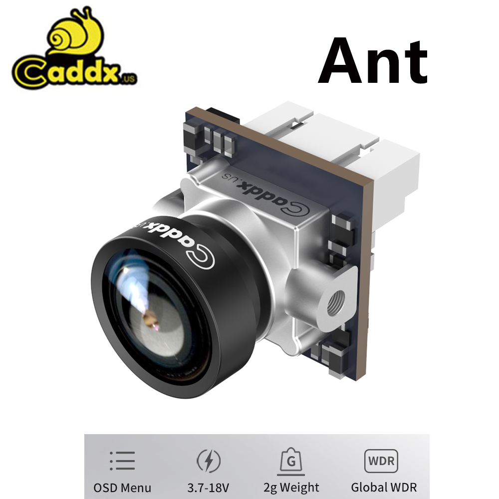 Caddx Ant FPV Camera 1200TVL Global WDR With OSD 1.8mm Lens 2g Ultra Light Nano FPV Camera Cam Aspect Ratio 16:9 4:3 NTSC PAL