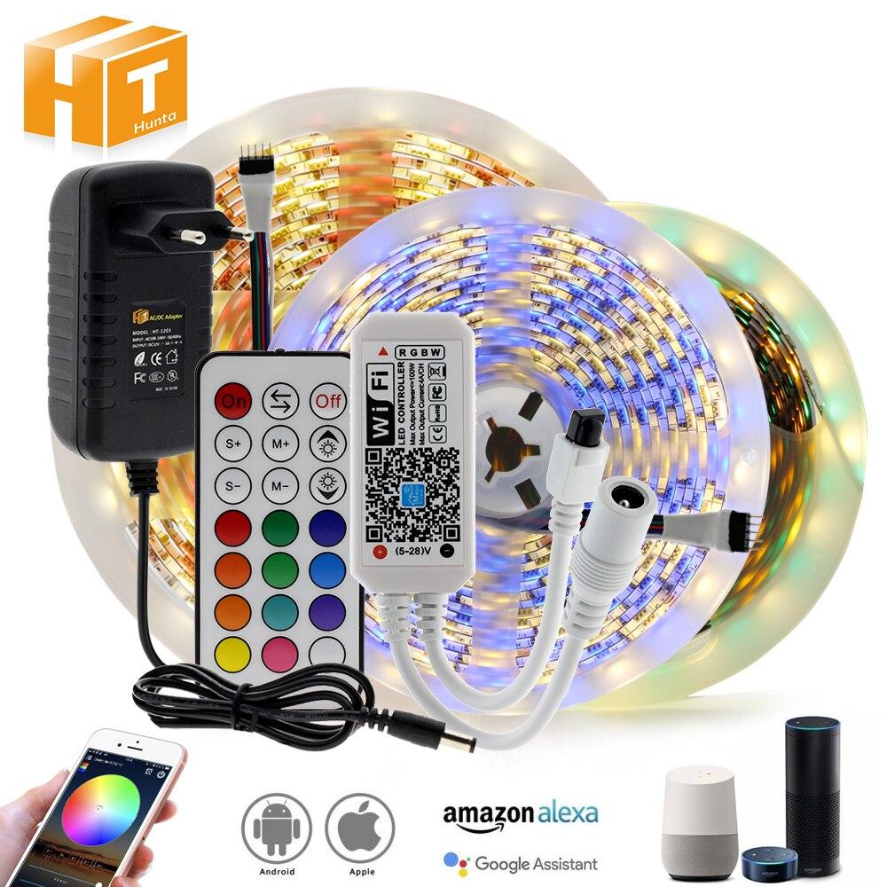WIFI / Bluetooth RGB RGBW LED Strip Set DC12V LED Strip 5050 5m 300LEDs + WIFI / Bluetooth Controller + Power Adapter