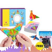 Kinder Interesse origami buch DIY papier puzzles cartoon fahrzeug tier karton puzzles für Kinder lernen pädagogisches spielzeug