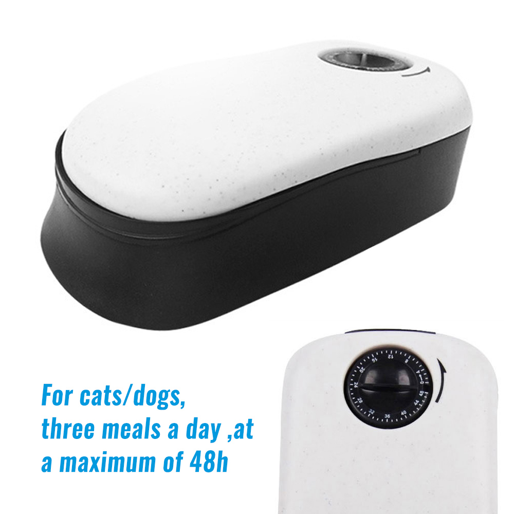 Pet Cat Dog Timing Feeder Pets Dogs Cats Timer Feeders Food Bowl Automatic Pet Dry Food Dispenser Dish Bowl For Cats Dogs