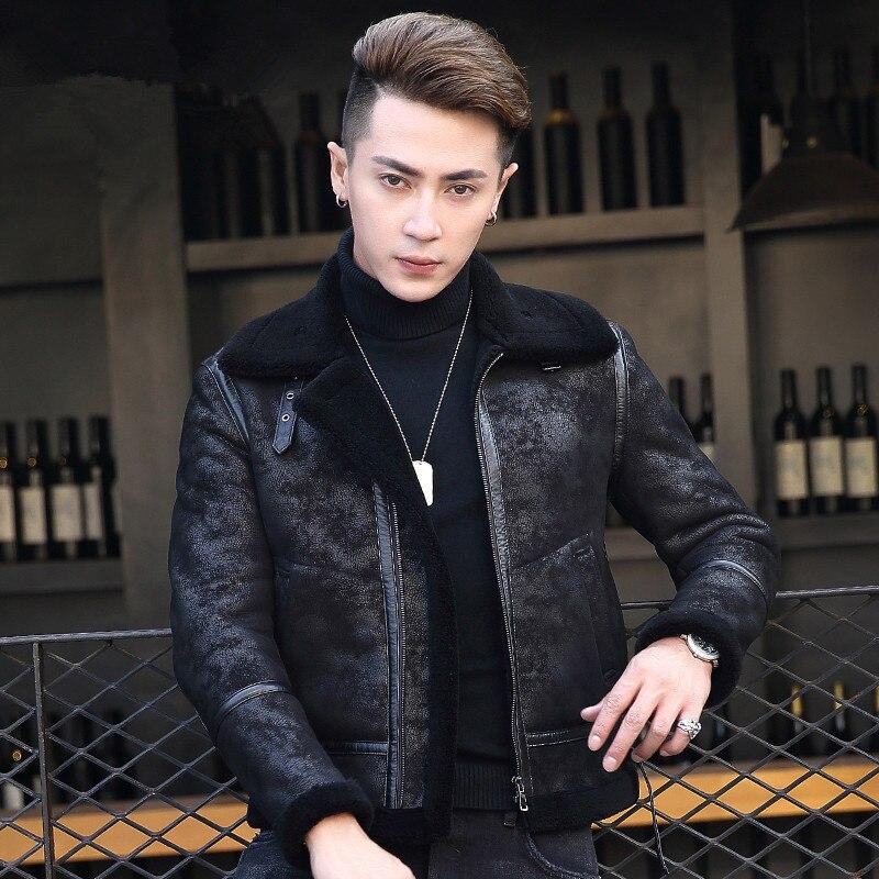 Winter Jacket Men Genuine Sheepskin Leather Jacket 100%Wool Liner Coat Fashion Men Clothes 2020 F-CQ-8721 MY789