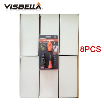 Visbella 8PCS/box (4g+8g refill package) 12g Liquid Plastic Welding Glue 5 Second Fix UV Light Glue quickly seal and repair easy