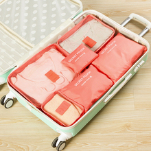 6 PCS Travel Storage Bag Set For Clothes Tidy Organizer Wardrobe Suitcase Pouch Case Shoes Packing Cube