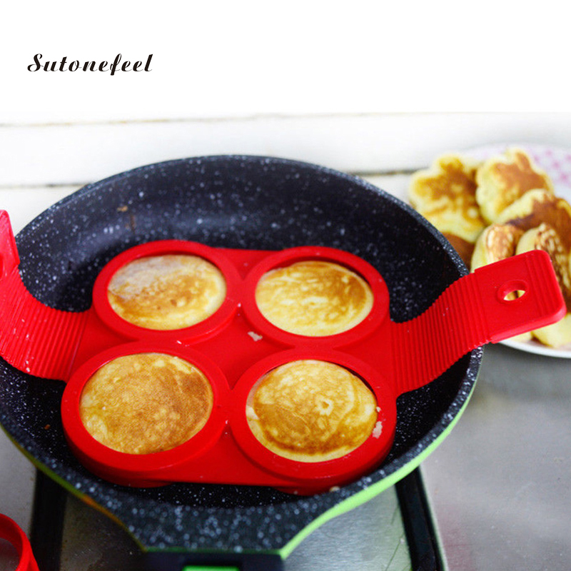 Силиконовая форма для омлета, круглая форма для омлета, форма для жарки яиц в форме сердца, антипригарная, Фантастическая форма для приготов...