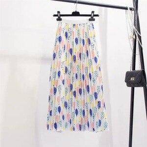Image 2 - Marwin jupe plissée pour femmes ballon frais imprimé, nouvelle collection été 2019, jupe plissée pour femmes, ligne a, rue, Style européen, mi mollet