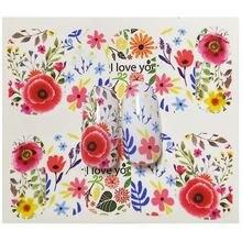 Наклейки для ногтей на ногти цветущие Цветочные наклейки переводные
