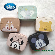 Disney Mickey Mouse mała torba kwadratowa moda PU skóra kobiet torebka Cartoon Dumbo kubuś puchatek dziewczyna torby listonoszki