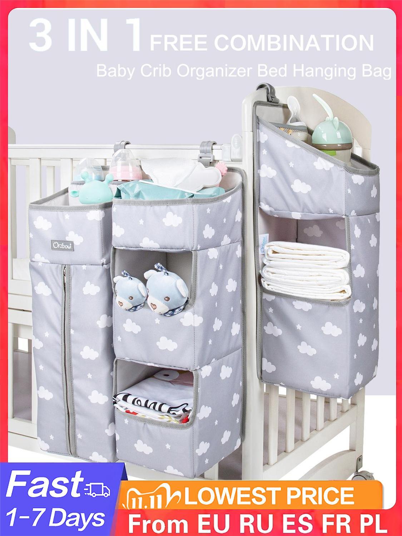 Hanging-Bags Bed-Organizer Crib Diaper Infant Bedding Orzbow Newborn Baby