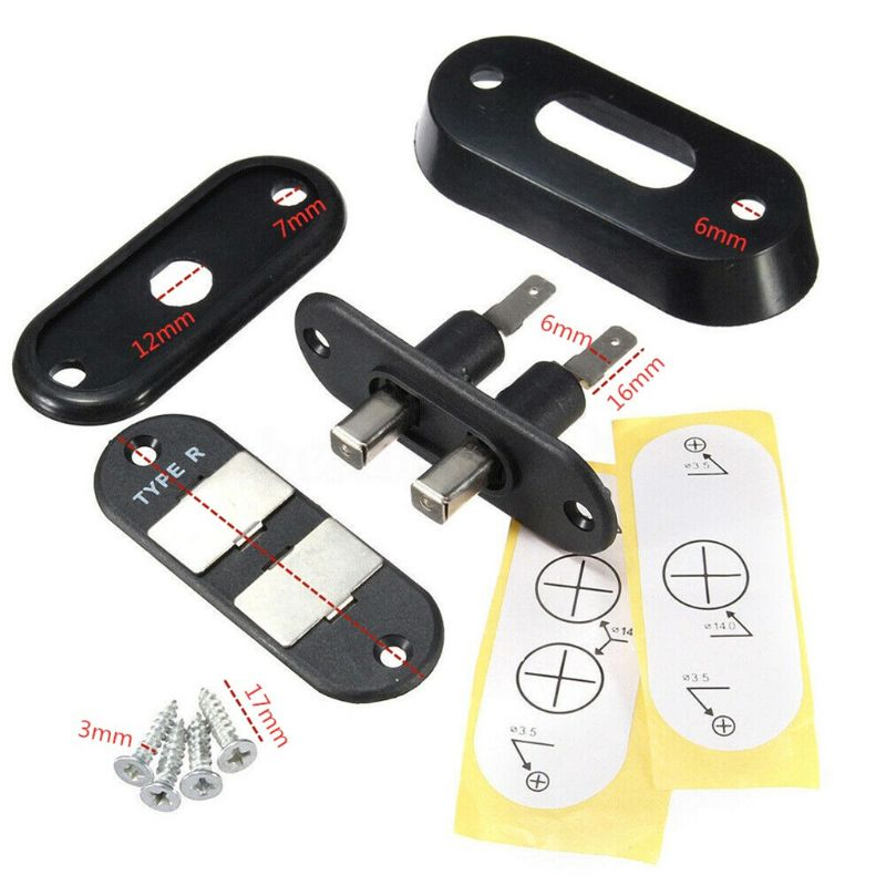1Set P-3 Black Sliding Door Contact Switch For Car Van Central Locking Systems K1KF