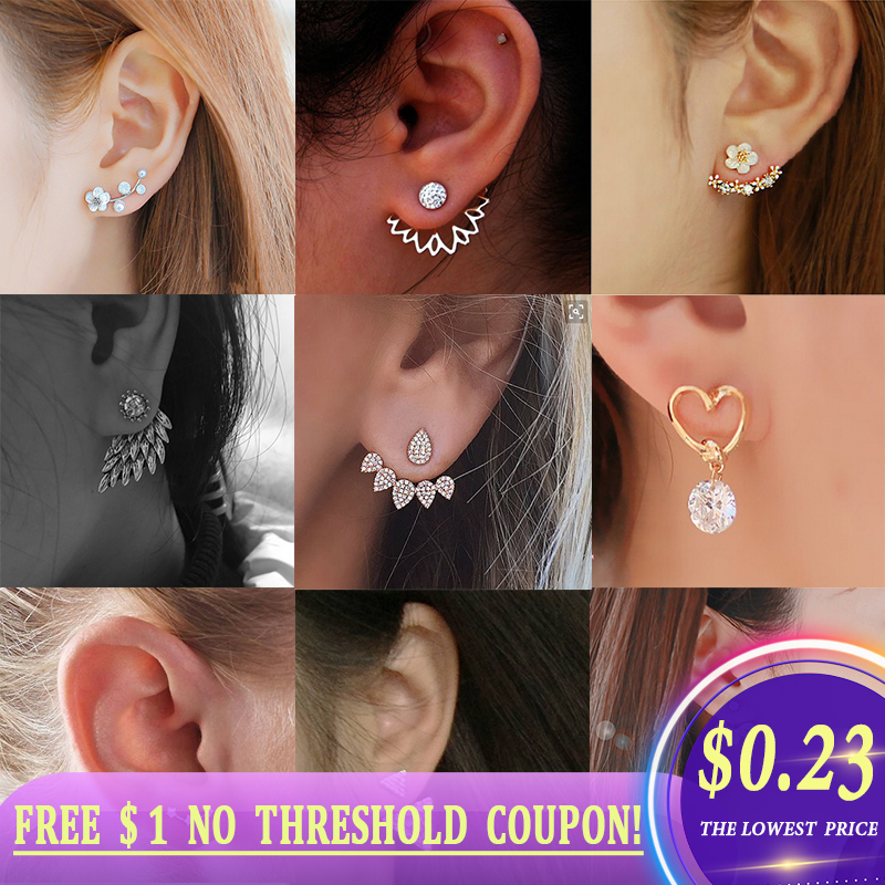 Charm Statement Earrings 2020 Korean Stud Earrings For Women Accessories Fashion Jewelry Cute Earrings For Best Friend  Gift