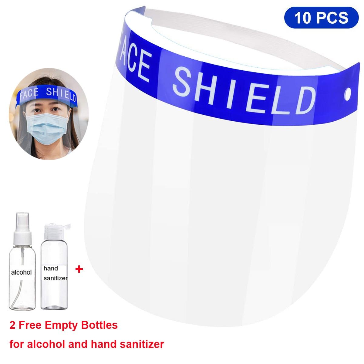 10 Uds Protector de seguridad para el rostro máscara protectora, Anti splash anit fog Visor de cara completa cubierta de pantalla de plástico transparente      - AliExpress
