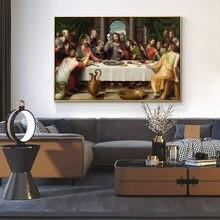 Son akşam yemeği İsa İskandinav posterler ve baskılar tuval boyama ev dekor İskandinav duvar sanat resmi oturma odası için
