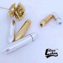 Mini vibrador de bala impermeable para mujer, Juguetes sexuales con 10 velocidades de oro y plata, punto G, vibrador estimulador de clítoris, productos sexuales para mujer
