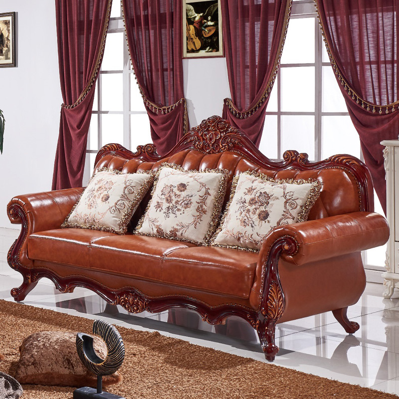 Pure leather sofa chair Canapés inclinables en cuir Sofás reclinables de cuero WA713 image