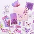 40 шт./компл., винтажная фиолетовая наклейка с цветами, сделай сам, скрапбукинг, альбом, мусорный журнал, Happy Planner, декоративная наклейка s