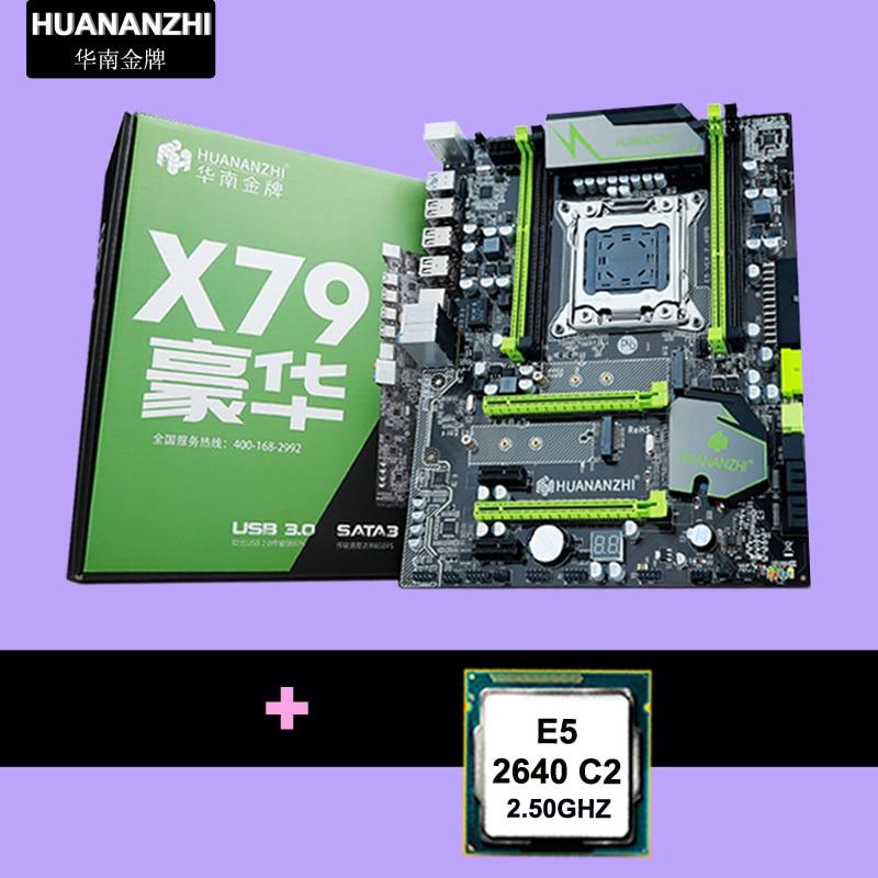 HUANAN ZHI X79 motherboard CPU combos X79 LGA2011 motherboard CPU Xeon E5 2640 2.5GHz PCI-E NVME SSD M.2 port AIDA64 all tested 1