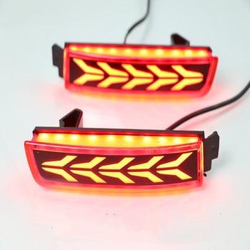 eOsuns Led brake light driving light reverse lamp assembly rear bumper lights for Nissan series