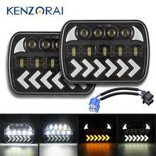 Conjunto de luces LED DRL de 5 y 7 pulgadas para Jeep Wrangler, 400W, proyector automático, haz Hi-Lo, para Cherokee XJ MJ YJ Comanche