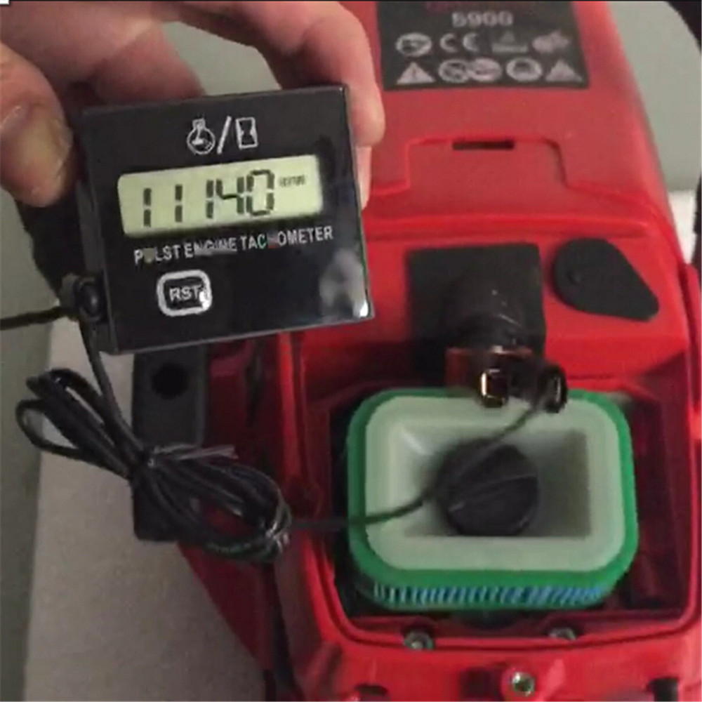 Gasoline engine moter speed tester inductive tach hour meter digital Tachometer clip style waterproof for motorcycle chainsaw