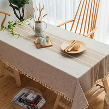Simple Striped Mosaic Tablecloth Fabric Cotton Hipster Coffee Table Table Cloth Ins Wind Rectangle Tablecloth tablecloth слингобусы mosaic simple