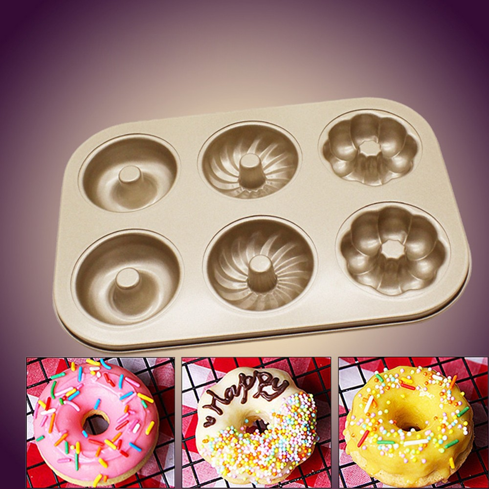 Non-stick 6-layer Baking Tray Creative 3-flowered Cake Metal Baking Tray DIY Doughnut Baking Tray Cake Decorating Tools