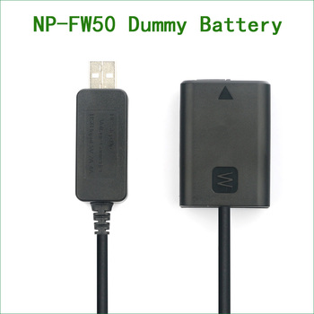 NP-FW50 NP FW50 AC PW20 Dummy Battery&DC Power Bank USB Cable for Sony NEX 3 5 7 DSC-RX10 II III A7 A7R A7S A3000 A6000 A7000 lanfulang np fw50 np fw50 camera battery 1 pack and charger kit for sony ilce 7 ilce 5000 nex 3c nex 6y a7s ilce 7rm2 nex 5n