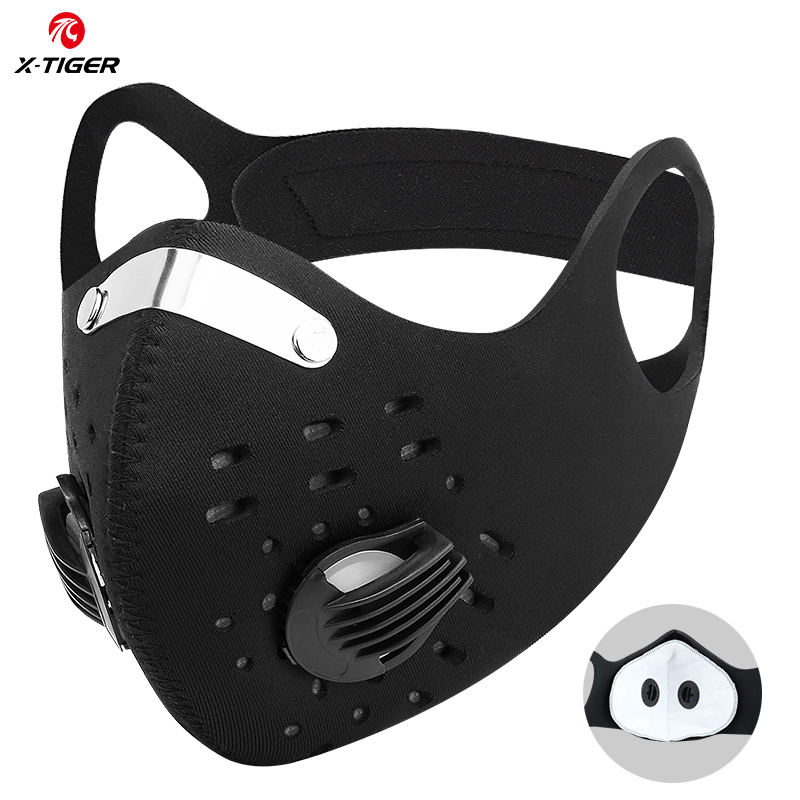 X-TIGER Pro Sport Mask With Two KN95 Filter Anti-pollution Dustproof Mask Washable Facemask Antivira Masks Cycling Face Mask