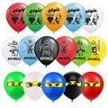 12 дюймов ниндзя латексные шары Legoings воздушные шары Legoing и принтом «LEGO Ninjago» balons Happy День рождения украшение для мальчиков блоки Globos детские и...