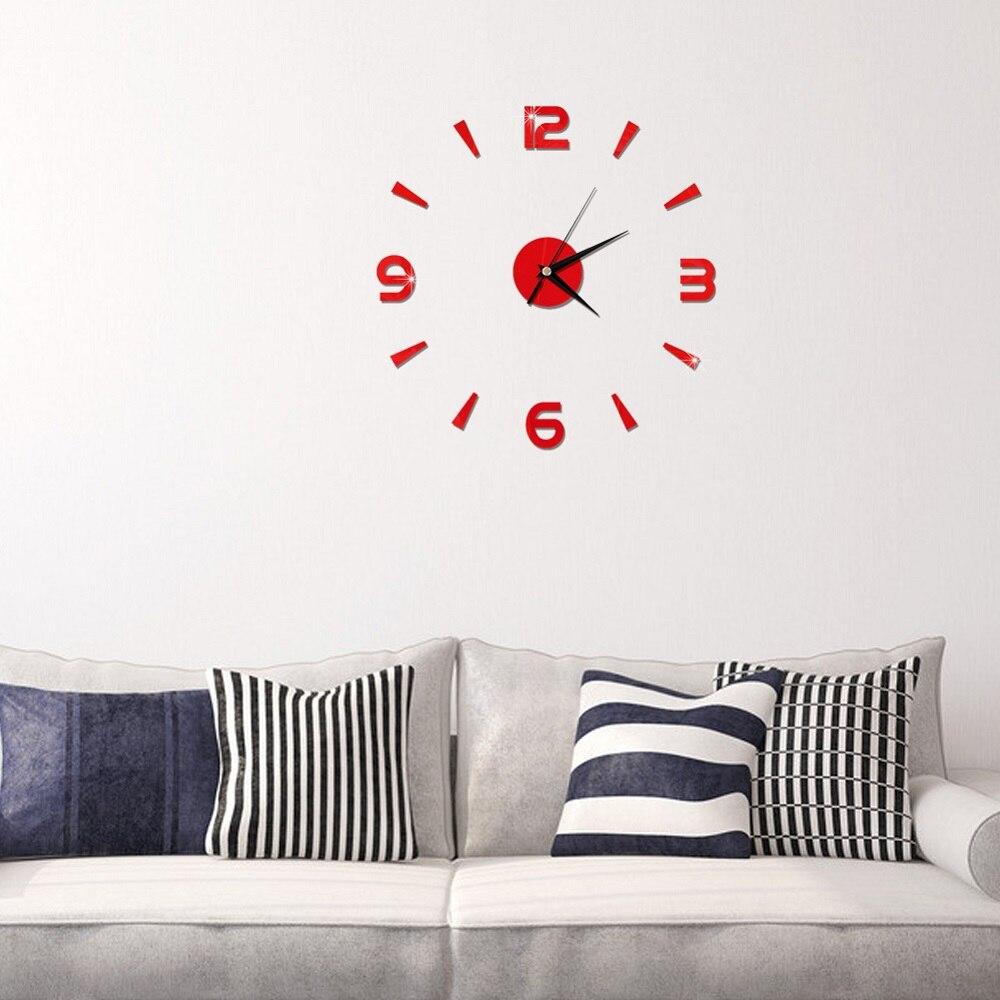 2019 New 3D Wall Clock Mirror Wall Stickers Fashion Living Room Quartz Watch DIY Home Decoration Clocks Sticker reloj de pared 17