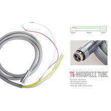 Dental 6 Hole Tubing Tube Silicone Hose for High Speed Fiber Optic LED Handpiece